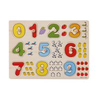bloques de alfabetos al por mayor-Bloques Ladrillos Niños Juguetes educativos tempranos Agarre de mano Rompecabezas de madera Juguete Alfabeto Aprendizaje digital Rompecabezas Juguetes de madera para niños
