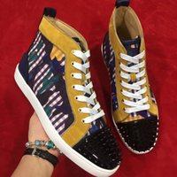 Wholesale Beading Materials - Brand special design material leather high help shoes wedding party sport lace up shoes new arrival style best quality men women shoes