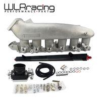 ingestão corporal venda por atacado-WLR RACING - Elenco Intake Manifold PARA 240SX RB25det RB25 Skyline + 80MM Throttle Body + Fuel Rail WLR-IM32-SL + 6980 + 5439