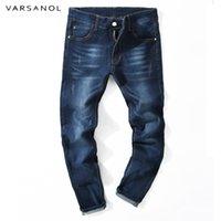 pantalones masculinos recién llegados al por mayor-Varsanol Stretch Jeans Mens pitillo Jean Pencil Pants Slim Jeans Hombres Classic Denim Trousers Male Pants New Arrivals Casual