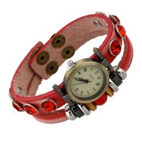 спортивный дизайн часов оптовых-Hot Red Leather Women Digital Watch Rhinestones  Design Wrist Watches Sports Bracelet Style Watch Fashion Accessories 2018