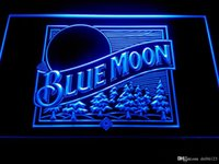 Wholesale beer logo signs - Blue Moon Beer Bar Pub Logo Neon Light Sign -LE167b