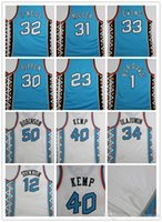Wholesale hills shipping - East 1996 All Star Jersey Throwback men Jersey 30 Pippen O Neal Kemp Hill Retro Jersey 96 All Star size S-XXL free shipping