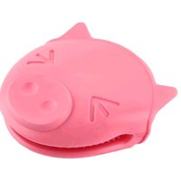 Wholesale Oven Clip - 1 pcs New Cute Pig Shaped Heat Silicone Slip-resistant Gloves 2418 Cake Kitchen Oven Mitts Anti-hot Clip Tools 12.5*11*6CM