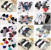 Wholesale Multicolor Sports Socks Cheerleaders ankle Short Sock Girls Women men Cotton Sports Socks Pink Skateboard Sneaker Stockings Fast Shipping