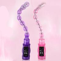 ingrosso stimolatore anus-6 velocità perline anali vibrazione Plug ano stimolatore della prostata massaggiatore vibratore in giochi adulti giocattoli del sesso per le donne e gli uomini