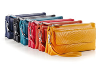 Wholesale long strap crossbody for sale - Group buy NEW Women s Genuine Leather Crossbody Purse Shoulder bag Cellphone Pouch Purse Wristlet Wallet Clutch with Shoulder Strap and Wrist Strap