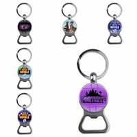 Wholesale function chain - Multi Function Key Chain Stainless Steel Beer Bottle Openers Anti Wear Fortnite Game Pendant Factory Direct 4 2ft BB