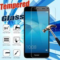 huawei honor screen guard оптовых-Закаленное стекло 9 H защитная реальная пленка гвардии протектор экрана для Huawei P20 Pro Lite P10 Plus Mate 10 9 Honor V10 Note 8 Nova 2 Y9 Y7 Prime
