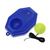tennisbälle groihandel-Gummi-Tennis-Trainer enthalten einen Tennisball selbst gelehrt spielen Springback-Zug-Werkzeuge Rebound Balls Gerät 6 25cy ii