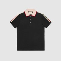 Wholesale Polo Original - 2018 Italy original polo t-shirt Medusa design brand Embroidery fashion crime print burlon Marcello Quality Short Sleeve Men Lapel Shirts