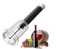 luftdruck weinflaschenöffner großhandel-Red Opener Luftdruck Edelstahl Pin Typ Flasche Pumpen Korkenzieher Cork Out Bar Opener Werkzeug