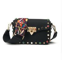 Wholesale Designer Bags Studs - 2018 Luxury handbags women bags designer crossbody bags fashion stud shoulder bags famous brand women messenger bag