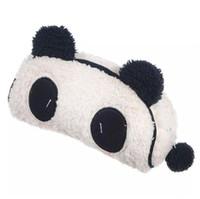 bolsa de cosméticos panda al por mayor-La felpa suave de la panda bolsa de cosméticos caja de lápiz de la tarjeta de teléfono de maquillaje Bolsa Impresiones animales de la bolsa 18pcs monedero / lot