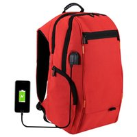 Wholesale waterproof tablet bags for sale - Group buy Outdoor Charging Backpack Laptop tablet bags with USB Port Waterproof Breathable Travel Bag Wear resisting Anti theft Backpacks