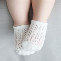 zapatillas de bebé calcetines al por mayor-Baby Cartoon Fruit Slipper Socks anti-slip para niños pequeños Low Cut Infantil para niños niñas calcetín para niños Thin short summer spring white