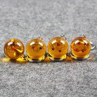 melhor brinquedo de bola de dragão venda por atacado-Melhor Qualidade Anime Dragon Ball Toy Figuras de Ação Chaveiro 7 Estrelas Bola Forma Chave Anéis Crianças Bonecas de Ação Dos Desenhos Animados