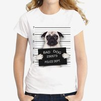 niedliches mädchen heiß großhandel-Hot 2018 Sommer Einzigartige Polizei Chihuahua Design T Shirt Frauen Kurzarm sehr schlecht Hundedruck Tops cool Hipster Tees süßes Mädchen T-Shirt