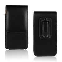 deri çanta toptan satış-Evrensel Kemer Klipsi PU Deri Bel Tutucu Kapak Kılıfı için Blackberry Key2 / KEYone