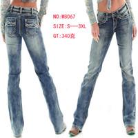 Wholesale women jeans elegant - Women Straight Long Jeans Pants Washed Slim Fit Fashion Trousers Female Office Elegant Pants