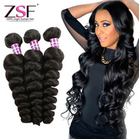 cheveux mongols pour le tissage achat en gros de-Extensions de cheveux humains vierges mongoles vierges ZSF 3 faisceaux de cheveux mongols de haute qualité 8A Grade lâche Wave Hair Weave