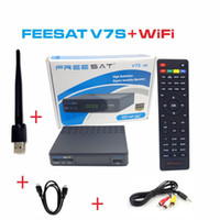 Wholesale FREESAT V7S HD WiFi PowerVu Biss Key Cccamd AVS