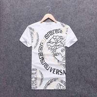 nouveaux designs de chemises décontractées achat en gros de-Nouveaux Hommes T-shirts Hip Hop T-shirt D'été Casual Broderie Mens Design Mode Vêtements Lettre Imprimer Manches Courtes Tops Tee Hommes # 4408