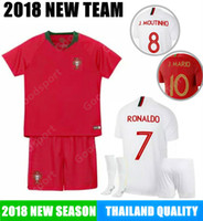 Wholesale ronaldo jersey youth resale online - KID Soccer Jersey RONALDO ANDRE SILVA GOMES MOUNTINHO PEPE NANI shirtS football YOUTH CHILDREN KITS EDER TOP