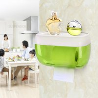 Wholesale roll tissue dispenser - Free Drilling Wall-mounted Bathroom Tissue Dispenser Car Napkin holder Bathroom Tissue Box Paper Tray Roll Waterproof Toilet