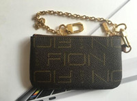 carteras claves para las mujeres al por mayor-Estilo de Francia diseñador bolsa de monedas hombres mujeres dama de lujo de cuero monedero clave billetera mini billetera número de serie caja