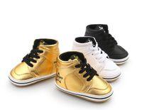 bebek bot satışı toptan satış-Sıcak Satış Sert taban Bebek Ayakkabıları Kauçuk Taban İlk Walkers Çizmeler Yüksek Üst Çocuk Ayakkabıları Spor Ayakkabı