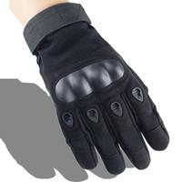 guantes de combate táctico al por mayor-Nuevo estilo de alta calidad barato deporte al aire libre ejército entrenamiento táctico entrenamiento deber guantes llenos del dedo protector