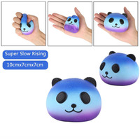 Wholesale Kawaii Kids - Jumbo Kawaii Starry Sky Panda Squishy Super Slow Rising Charm Squishies Bread Squeeze Bun Kid Toy Anti Stress PU Foam Doll STS200