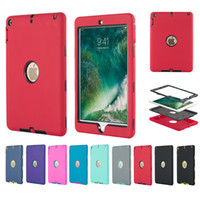 Wholesale silicon back case for tablet resale online - For New Ipad Air Case In Shockproof Silicone Tablet PC Case Case Ipad Pro Back Cover Cases