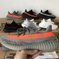 Wholesale 2018 Last Update Sply V2 Semi Frozen Cream White Zebra Black Red Beluga Kanye West Running Shoes Sneakers