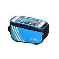 Wholesale waterproof touch screen phones for sale - Group buy Mountain Bike Front Tube Bag Riding Equipment Mobile Phone Touch Screen Bags Polyester Fiber Hot Sale qx WW