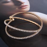 ingrosso catena d'imitazione del platino-Braccialetto di tennis di cristallo del diamante 18K placcato oro Imitazione platino Catena di gioielli di artiglio Vendita calda nuovi accessori di moda di buona qualità