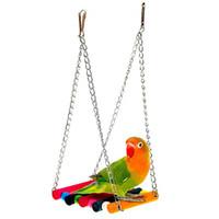 spielzeug für papageien groihandel-Bunte Haustier-Vogel-Schwingen-Papageien-Hängematte-haltbares Beißen-beständiges Spiel-Spielzeug-Ausbildungsunterhalten umweltfreundlich 11.8 * 10cm