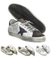 italien leinwand großhandel-2017 Italien Leder Schuhe Turnschuhe Goldens Scarpe Donna Uomo Homme Femme Turnschuhe Francy Baumwolle Leinwand Und Leder Stern
