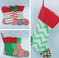 saco drawstring decorativo venda por atacado-Novos presentes de Natal sacos, enfeites de Natal saco sacos de cordão decorativo, meias de lona de Natal saco de Natal Decorações I362