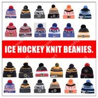 ingrosso berretti rossi neri-2019 Berretti da hockey su ghiaccio RANGER Volantino Bruin Canadien Red Wing Black Hawk Pittsburgh KING cappelli Cap SHARKS ISLANDER