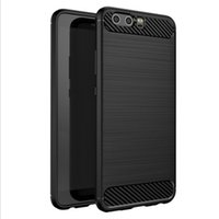 Wholesale carbon carving resale online - Carved Carbon Fiber Rugged Armor Anti fall Colorful TPU Case for Huawei Honor with Flexible and Durable Shock Absorption Design