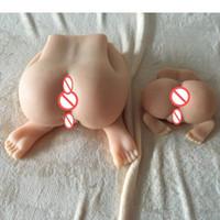 ingrosso realistico figa 3d-Giocattoli del sesso adulto del grande culo 3d silicone reale pieno del silicone realistico bambola reale del sesso per gli uomini Vagina masturbatore anale giocattolo del sesso per il maschio