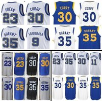 Wholesale Draymond Green - 2017-2018 New Men's Golden State #35 Kevin Durant 30 Stephen Curry 23 Draymond Green 11 Klay Thompson Home Jersey Warriors stitching Jerseys