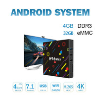 bluetooth android 32 gb al por mayor-H96 MAX H2 Android 7.1 Smart TV box RK3328 Reproductor de medios quad-core 4GB 32GB Bluetooth 4.0 4K