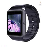 akıllı saat senkron android telefonu toptan satış-En iyi Akıllı İzle GT08 Saat Sync Notifier Destek Sim TF Kart Bluetooth Bağlantısı Smartwatch Drop Shipping