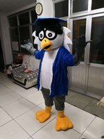 Wholesale Adult Costumes Owl - High-quality Real Pictures Owl Dr. Mascot Costume Mascot Cartoon Character Costume Adult Size free shipping
