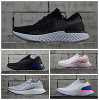 Wholesale shoes for women s - Epic React AQ0067 Mens Running Shoes For Women Sports Sneakers Trainers Men s Shoe Women Sneaker Racer Blue 2018