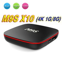 Wholesale t95m android tv box resale online - 2018 G RAM Android TV BOX M9S X10 RK3229 Smart TV Box Quad Core HDMI WIFI H K Media Player Better T95X T95N T95M