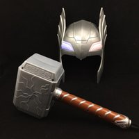 Wholesale hammered toy resale online - The Alliance of Children Thor Toy Thor Voice Emitting Thor Mask Hammer Set Movie Theme Props Party Toys Supply